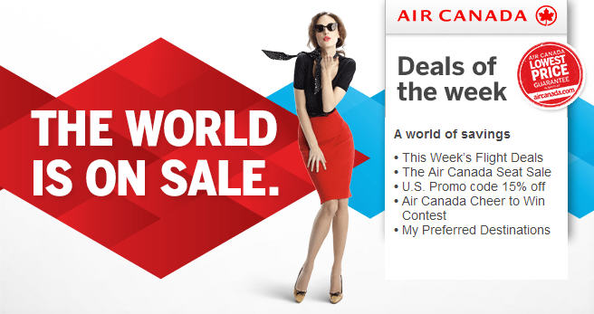 Air Canada The World is on Sale (Book by July 22)