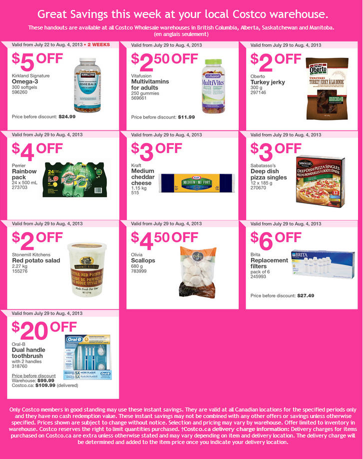 Costco Weekly Handout Instant Savings Coupons WEST (July 29 - Aug 4)