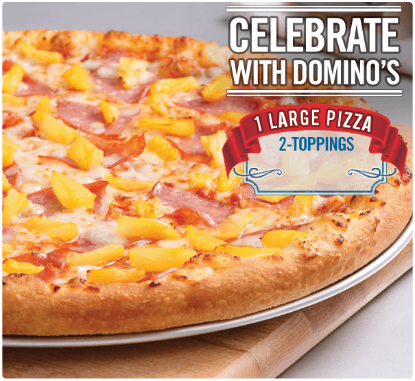 Domino Pizza Large 2-Topping Pizza for only $9.99