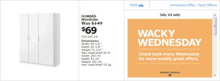 IKEA - Winnipeg Wacky Wednesday Deal of the Day (July 24) A