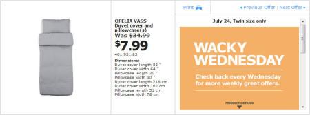 IKEA - Winnipeg Wacky Wednesday Deal of the Day (July 24) B