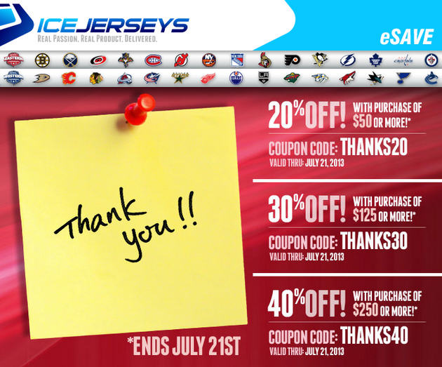 IceJerseys Save up to 40 Off NHL Jersey's & Apparel (Until July 21)
