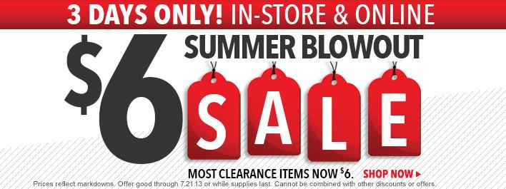 Lids $6 Summer Clearance Sale (July 19-21)