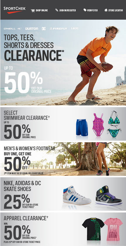 Sport Chek Final Summer Blowout - Save up to 50 Off (July 23 - Aug 5)
