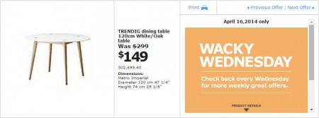 IKEA - Winnipeg Wacky Wednesday Deal of the Day (Apr 16) A