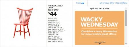 IKEA - Winnipeg Wacky Wednesday Deal of the Day (Apr 16) B
