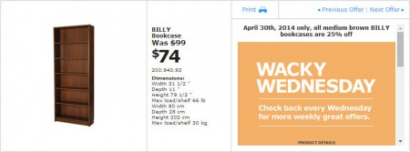 IKEA - Winnipeg Wacky Wednesday Deal of the Day (Apr 30) A